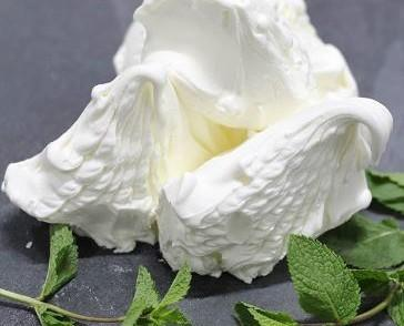 Crema helada menta. Menta fresca
