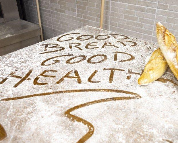 Mensaje de harina. Good bread, good health