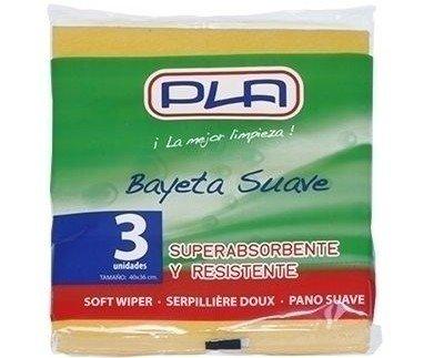 Utensilios de Limpieza. Bayetas. Pack de 3 Bayetas. 40X38 cm