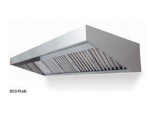 Campana pared Eco Plus. La mas económica. Ideal para techos bajos. Todas sus partes visibles en acero inoxidable.