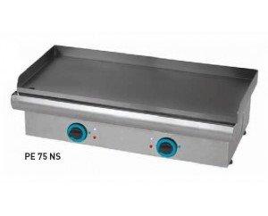 Plancha eléctrica. Estructura en acero inoxidable.- Placa de acero pavonado (baño de aceite a alta temperatura) de 6mm deespesor con terminación en color negro