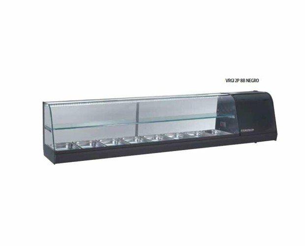 Vitrina Mostrador. Perfil de aluminio anodizado Inox