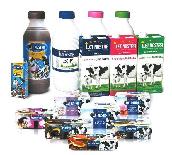 Marcas reconocidas. Leche y productos lácteos Llet Nostra