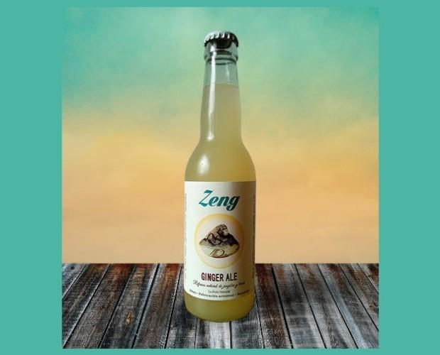 Refrescos. Refrescos Ecológicos. Zeng - Ginger Ale es una bebida refrescante y energizante gracias a las propiedades del jengibre y del limón. Se prepara de manera totalmente artesanal, sin extractos ni colorantes