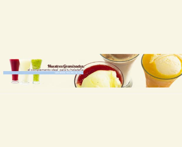 Granizados variados. Limón, naranja, fresa, piña, café y muchos más
