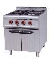Cocinas industriales. Cocina 4 fuegos con armario