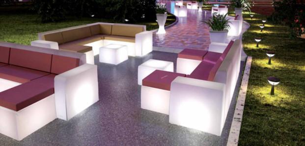 Sillones.Mobiliario Iluminado para crear ambientes Chill Out