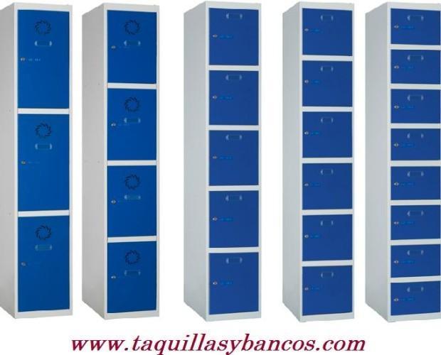 Taquillas metálicas. Sistema modular de inicial y extensiones. Fácil Montaje