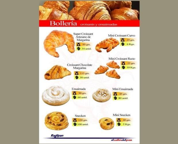 Bollería. Croissants y ensaimadas