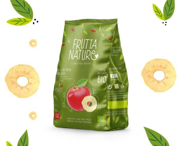 Manzana Dulce Deshidratada BIO. Snack 100% fruta deshidratada BIO manzana. Sin aditivos. Sin gluten. Apto veganos