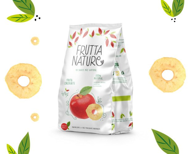 Snack Manzana Dulce. Snack 100% fruta deshidratada natural manzana. Sin aditivos. Sin gluten. Apto veganos