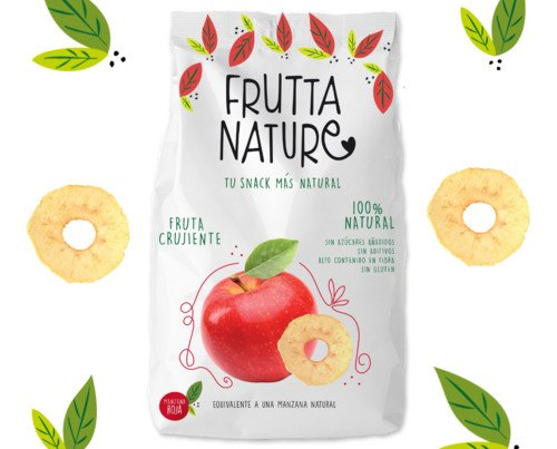 Frutta Nature Manzana Dulce 60g. Caja 12 unidades. Con sabor a manzana dulce natural y nada más.