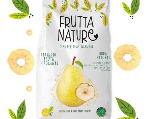 Frutta Nature Pera 60g. Sin conservantes ni colorantes, sin gluten, sin azúcares añadidos, sin sal, cero aditivos, alto contenido en fibra,