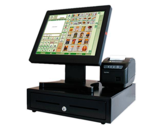 TPV táctil. Pack tpv táctil con impresora de tickets y cajón portamonedas