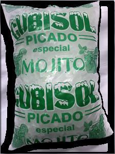 Hielo Picado. Hielo picado y hielo americano en bolsas de 2 kg