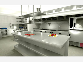 Empresas de muebles para bares for Distribucion de una cocina para restaurante
