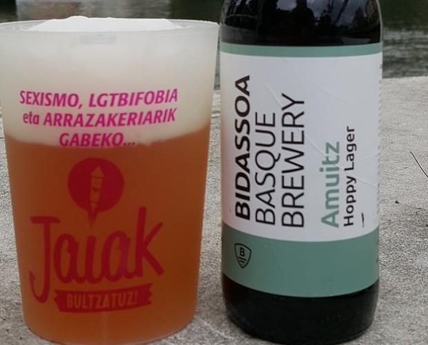 Cerveza. Cerveza Artesanal sin Gluten. ´Amuitz´es la cerveza artesanal tipo APA de BIDASSOA BASQUE BREWERY, sin gluten.
