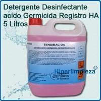 Detergente desinfectante. Germicida de amplio espectro