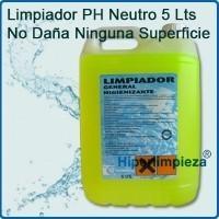 Limpiador higienizante. pH neutro, no daña superficies. Envase 5 kg