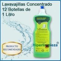 Lavavajillas manual concentrado. 12 botellas de 1 litro