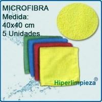 Bayetas de Microfibra. De 250gr-m2, en 4 colores diferentes