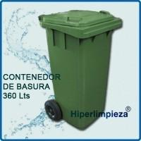 Contenedores basura. Capacidad: 360 litros. Variedad de tamaños
