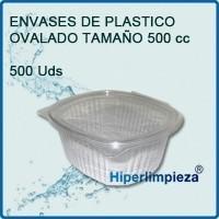Envases plásticos para alimentos. De 500 ml, 1000 y 2000 ml.