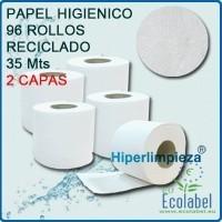 Papel higiénico. Paquete de 96 rollos, de 35mts y 2 capas