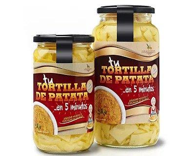 Platos Preelaborados a Base de Verduras.Preparado de tortilla de patata sin cebolla.