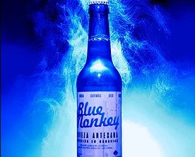Cerveza artesanal. Azul loger especial