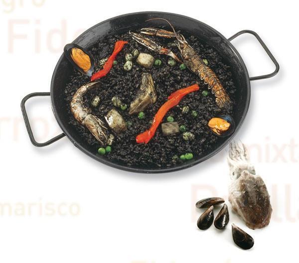 Paellas españolas. Gran variedad de deliciosas paellas preparadas