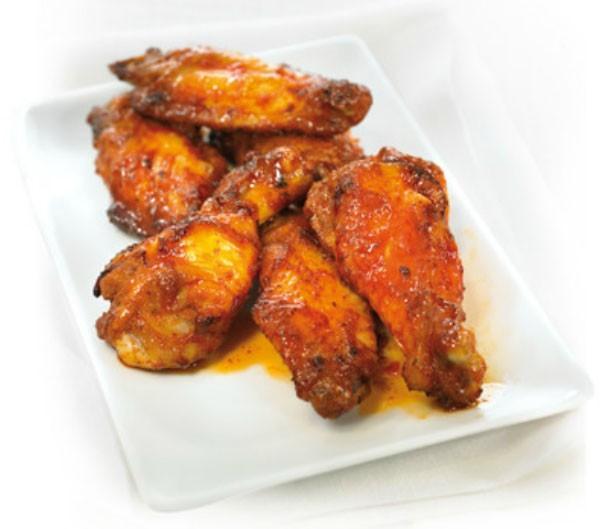 Alitas de pollo. Preparadas estilo BBQ
