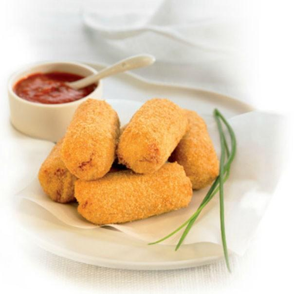 Croquetas de olla. También tenemos nuggets de pollo y de queso