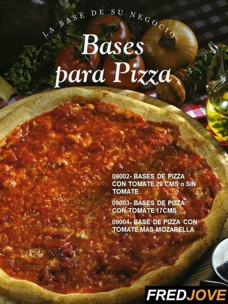 Base para pizzas . De 29 y 17 cm, con o sin salsa