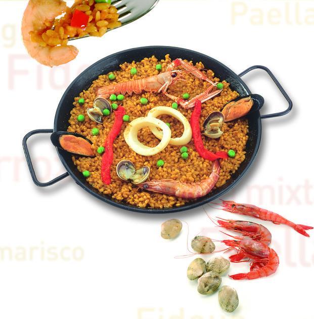 Paella de marisco. Fantasticas Paellas y Fideuas