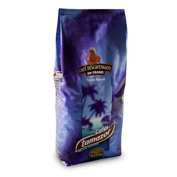 Descafeinado. Café Tamazor descafeinado en grano