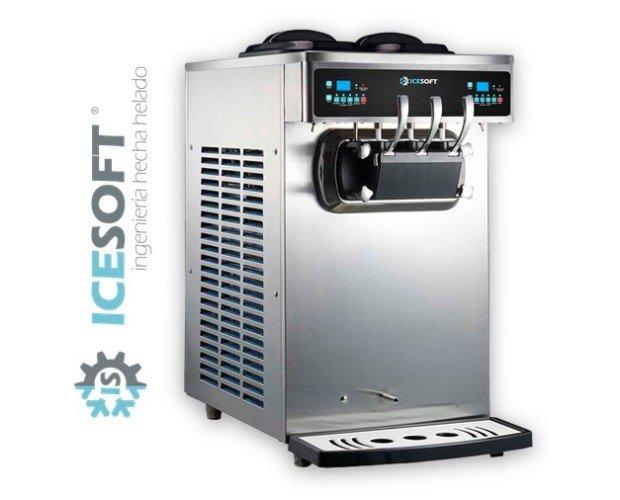 ICESOFT IS-S50. Máquina de helado soft, yogurt helado de 3 grifos.