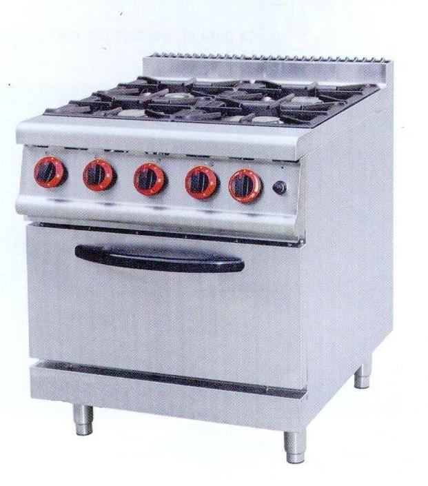 Cocina de 4 fuegos. Maquinaria para hostelería