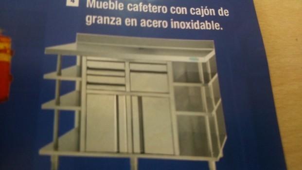 Mueble cafetero. 1000x600x1050 385€1500x600x1050 440€Con cajón de granza.