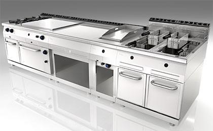 Cocinas industriales. Cocinas y lavavajillas industriales