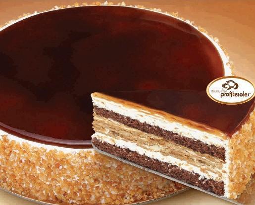 Tarta caramelo. Peso: 1.500 gramos