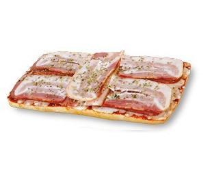 Tostas. Tosta de bacon