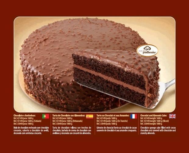 Chocolate y Almendra. Tarta de chocolate y almendra