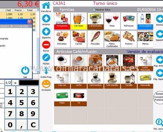 Software Cafeteria1 DimaraCanarias. Software para Cafeterías