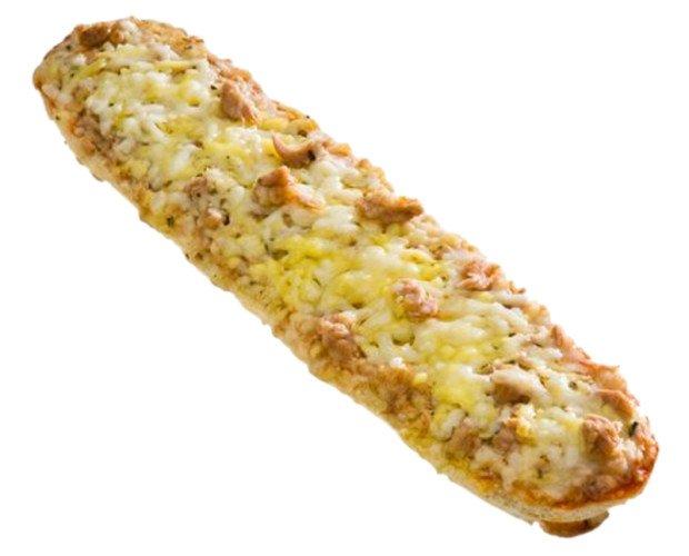Pan Pizza Atún. Delicioso pan pizza de atún y queso, ideal para almuerzos y meriendas