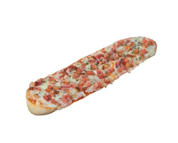 Pan Pizza Bacon. Delicioso pan pizza de bacon y queso El formato de 24 unidades
