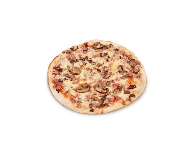 Pizza Bacon y Champinones. Exquisita pizza, ideal para meriendas