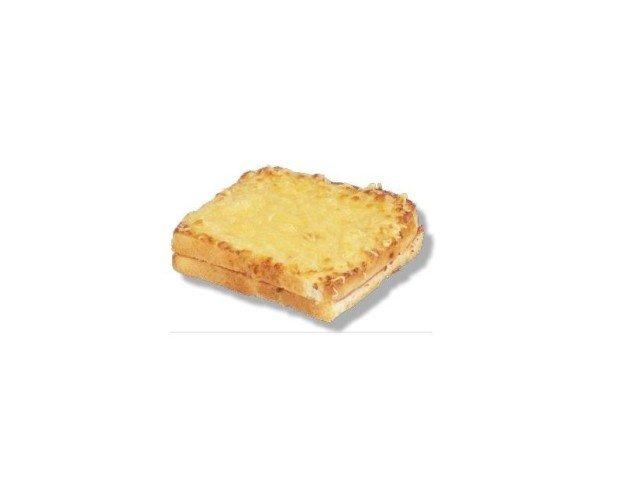 Croque Monsieur. Elegante, elaborado con pan de molde tostado, jamón york y queso