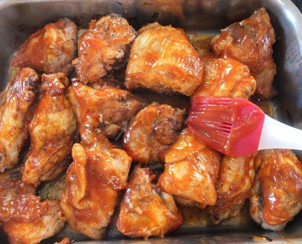 Alitas pollo BBQ. Alitas de pollo congeladas