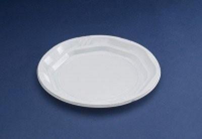 Vajilla Desechable.Platos redondos de plástico blanco reforzado